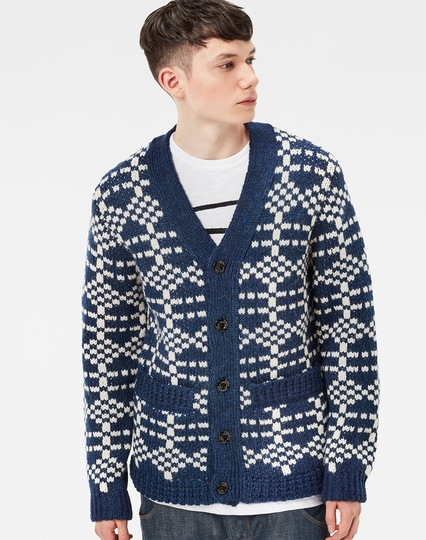 Premium Core Jacquard Cardigan Knit