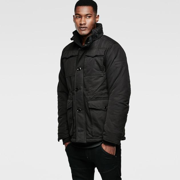 star raw men jackets blazers mfd field jacket black. Black Bedroom Furniture Sets. Home Design Ideas