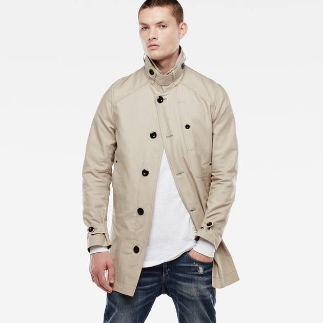 star raw men jackets blazers garber trench khaki. Black Bedroom Furniture Sets. Home Design Ideas