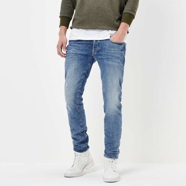 3301 Star Sale Slim RAW® G Jeans Star Men Aged Lt G PYPOrgzq