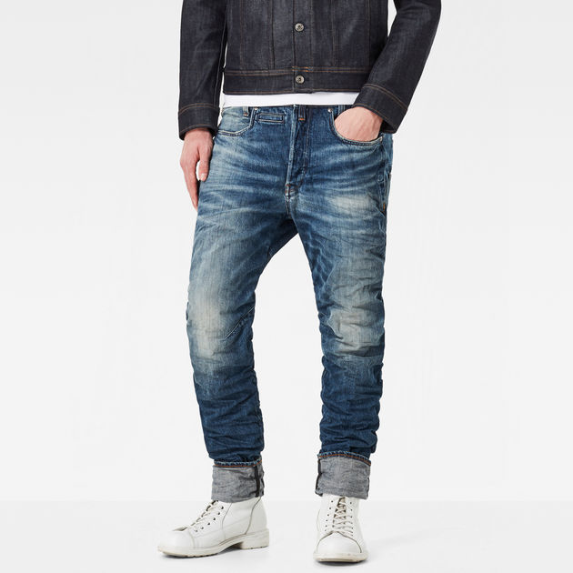 G-Star STAQ 3D TAPERED - Jeans fuselé - 3d dark aged afdCX8e5S