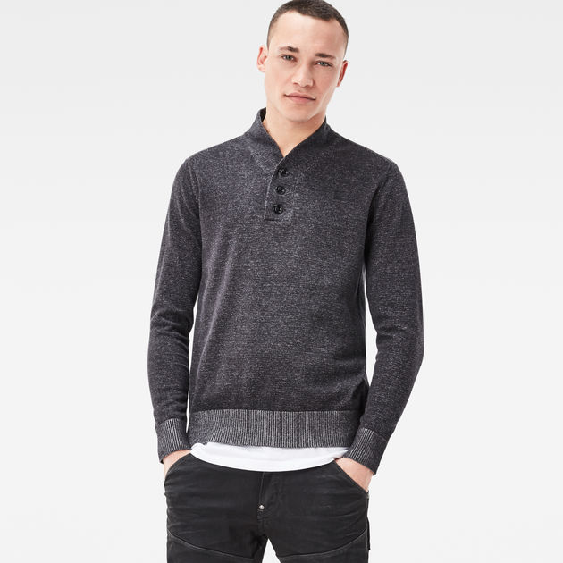 Mens Core Shawl Collar Plated Jumper G-Star Clearance For Nice Pay With Visa Sale Online Discount Classic Sale Online 1gad2V