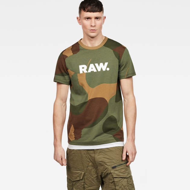 Shop Offer Cheap Online Zost Logo Camo T-Shirt - Lt aged olive/bronze G-Star Outlet Get Authentic Free Shipping Find Great Outlet Hot Sale Buy Cheap Footaction Vd3R70G
