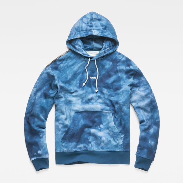 Water Star Teal Hooded Ao Raw® Cyrer G Blue Sweat vaq1wz