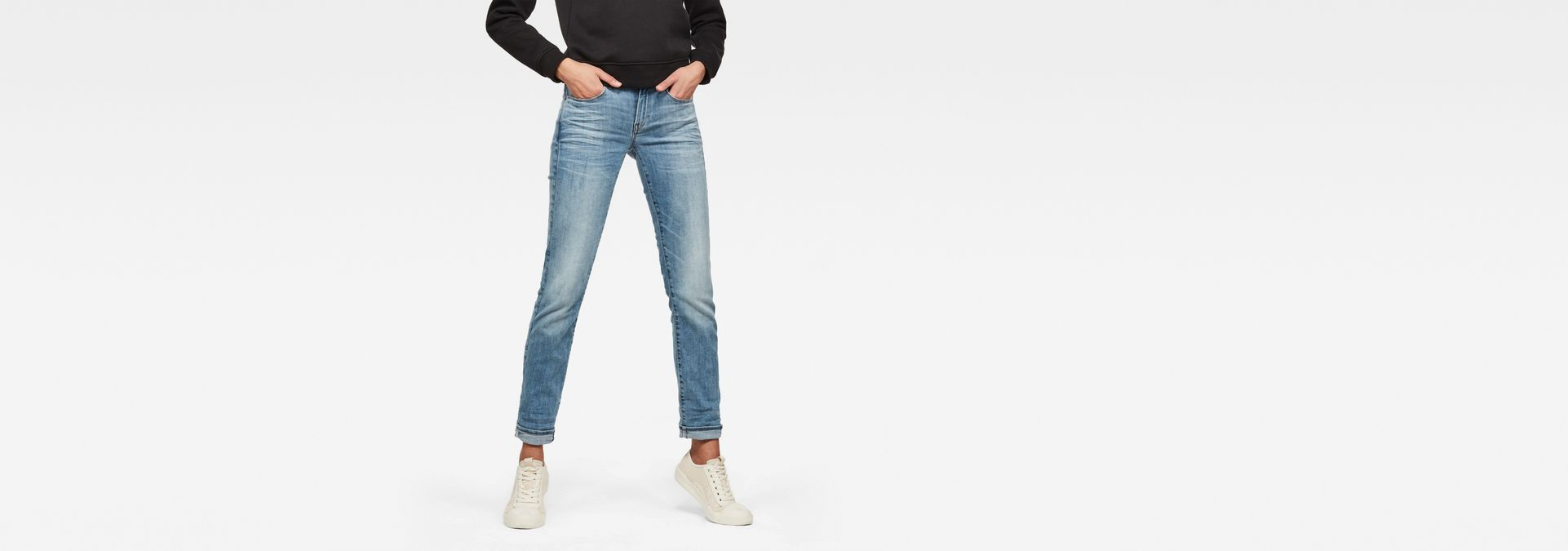 3301 Jeans Star Deconstructed Waist Mid G Raw® Straight rwrIvqR