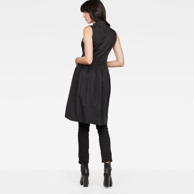 Hybrid Archive Deconstructed Pleated Sleeveless Shirt Dress G-Star NzHRG1