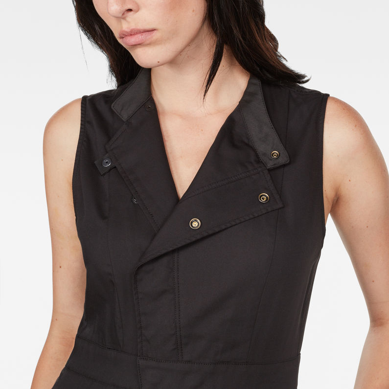 Hybrid Archive Deconstructed Pleated Sleeveless Shirt Dress G-Star Es5J5kO4Y0