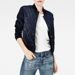 G-Star RAW® Quilted Bomber Dark blue model front