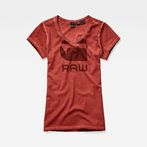 G-Star RAW® Suphe slim v t wmn s/s Red model front