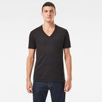 G-Star RAW® Base V-Neck T-Shirt 2-Pack Black model front