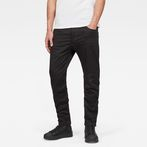 G-Star RAW® Motac-X Deconstructed 3D Slim Jeans Black front flat