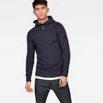 G-Star RAW® Omohundro Hooded Zip Knit Dark blue model front