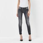 G-Star RAW® Lynn Zip Mid Waist Skinny Jeans Grey