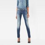 G-Star RAW® Lynn Zip Mid Waist Skinny Jeans Medium blue