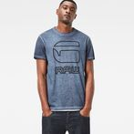 G-Star RAW® Nact T-Shirt Dark blue model front