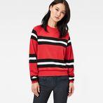 Red Pepper/Black/White Stripe