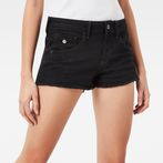 G-Star RAW® Arc Mid Waist TU Shorts Dark blue front flat