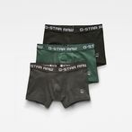 G-Star RAW® Classic Trunks 3-Pack Green front bust