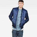 G-Star RAW® Liner Meefic Padded Bomber Overshirt Dark blue model front