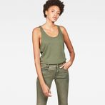 G-Star RAW® Dyv Straight Deep Singlet Green model front