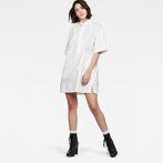 G-Star RAW® Deline Polo Dress White model front