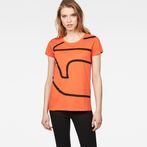 G-Star RAW® Flemster Straight T-Shirt Orange model front