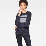 G-Star RAW® Oluva Oversized Sweater Dark blue model front