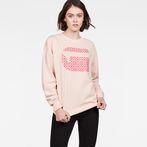 G-Star RAW® Oluva Oversized Sweater Pink model front