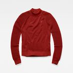 G-Star RAW® Suzaki Mock Turtle Knit Red model front