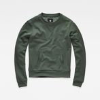 G-Star RAW® Cropped Hybrid Archive Sweater Green model front