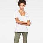 G-Star RAW® Ovvela Straight Deep V-Neck T-Shirt White model front