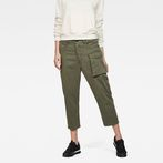 G-Star RAW® Tendric 3D Mid Boyfriend Pants Green model front