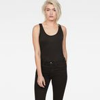 G-Star RAW® Dyv Straight Deep Singlet Black model front