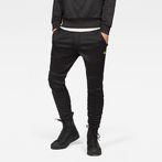 G-Star RAW® Motac Deconstructed Skinny Sweatpants Black model front