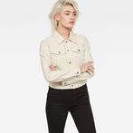 G-Star RAW® D-Staq Deconstructed Denim Jacket White model front