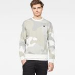 G-Star RAW® Oversized  Dutch Camo Stalt Deconstructed Sweater Grey model front