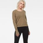 G-Star RAW® Annie Mesh Knit Green model front