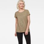 G-Star RAW® Raw Correct Rowinda Straight T-Shirt Beige model front
