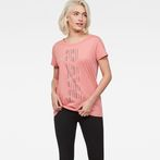 G-Star RAW® Raw Correct Rowinda Straight T-Shirt Pink model front
