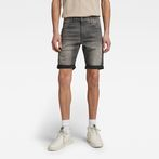 G-Star RAW® 3301 Slim 1/2-Length Shorts Grey front flat