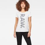 G-Star RAW® Raw Correct Rowinda Straight T-Shirt White model front