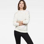 G-Star RAW® Motac-X Oversized Hooded Sweater White model front