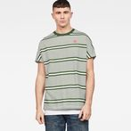 white/deep nuri green stripe AO
