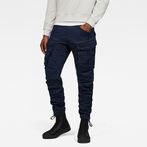 G-Star RAW® Rovic Zip 3D Tapered Cargo Pants Dark blue model front
