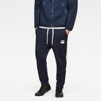 G-Star RAW® Core Stripe Cropped 3D Tapered Sweatpants Dark blue model front