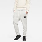 G-Star RAW® Core Stripe Cropped 3D Tapered Sweatpants White model front