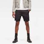 G-Star RAW® Bronson Straight 1/2-Length Shorts Black model front