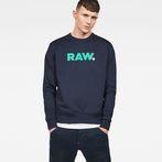 G-Star RAW® Misi Stalt Deconstructed Sweater Dark blue model front