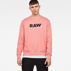 G-Star RAW® Misi Stalt Deconstructed Hooded Sweater Pink model front