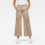 G-Star RAW® Bronson High Loose 7/8-Length Chino Brown model front